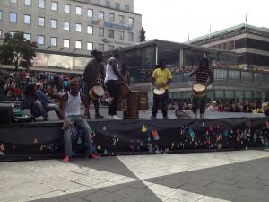 """Musiker på ADS' Doundounba""""Plattan"""" Stockholms Kulturfestival 2013"""